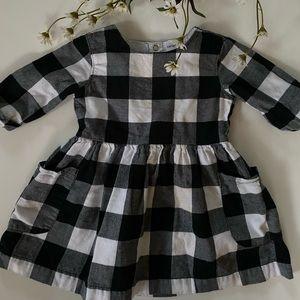 Carter's B&W Plaid Pocket Dress